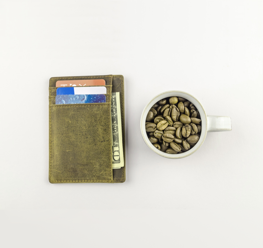 white-mug-with-coffee-beans-beside-brown-wallet-1420707 - 1024x965 - green hue